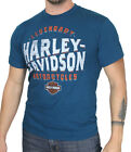 Harley-Davidson Mens Gassed Up B&S Poseidon Blue Short Sleeve T-Shirt