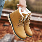 NEW Men Winter Warm Leather Snow Boots Ankle Boots Casual Ou
