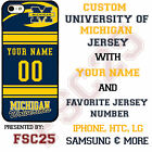 Personalized Michigan Wolverines Jersey Phone Case Cover fits iPhone Samsung LG