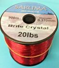 Sakuma BRITE Crystal Fishing Line - (RED)