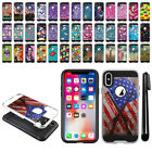 "For Apple iPhone X 5.8"" Shockproof Brushed Hybrid Protector Cover Case + Pen"