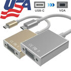 usb to monitor cable adapter - USB C 3.1 Type C to VGA Monitor Projector Video Converter Adapter Cable Switcher