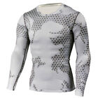 Mens Compression Top Athletic Running Basketball Gym Workout Sport Camo T shirts