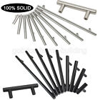 brushed stainless steel door handles - SOLID Stainless Steel T Bar Cabinet Cupboard Door Handles Drawer Pulls Knobs Lot