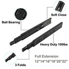 Soft Close Drawer Slides/Glides/Guides Side/Bottom Mount Ball Bearing Heavy Duty