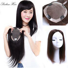 "Base 5.2×6.7"" Remy Human Hair Topper Toupee Hairpiece Wiglet For Women Man"
