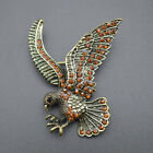 Vintage Eagle Brooches Pins Clip for Mens Best Friend Metal Costume Jewelry