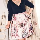 Simply Be Sprinkle of Glitter Pink Sateen Scuba Skirt - RRP £55 - NEW -  No Belt