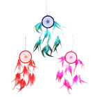 Handmade Dream Catcher Ornament with Feathers Beads Wall Hanging Car Decoration