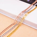 Stainless Steel 14K Rose Gold Roman Numbers Fashion Womens Chain Bracelet New