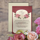 Amazing MULBERRY FLORAL Wedding Invitations Flower & Envelopes Day/Eve Free P*P
