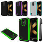 "For LG K20 Plus TP260 MP260 K20 V VS501 5.3"" Hybrid Bumper TPU Case Cover + Pen"