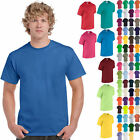 Gildan Men's Heavy Cotton T-Shirt Pack of 5 Bulk Lot Solid Blank 5000 NEW