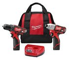"Milwaukee 2494-22 M12â""¢ Cordless LITHIUM-ION 2-Tool Combo Kit"