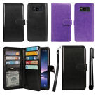 For Samsung Galaxy S8 Active G892A Card Holder Wallet Case Wrist Strap + Pen