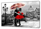 COUPLE LOVE IN VENICE   OIL PAINT RE PRINT ON FRAMED CANVAS  WALL ART DECORATION