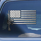 USA Flag AR-15 Rifle Decal Sticker - ar15 m4 rifle firearm window decal sticker