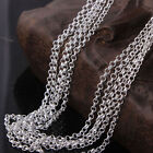 """Wholesale 5pcs 2mm 925 Silver Plated Rolo Chain Necklaces 16""""-30"""" Necklace Chain"""