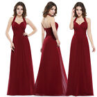 Ever-Pretty Sexy Long Wedding Gown Backless V-neck Bridesmaid Prom Dress 08487