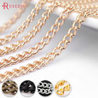 5 Meters Ring Necklace Curb Chain Connector Jewellery 2.5mm WIDE 5 Colours OB