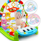 3 In 1 Baby Lullaby Kid Playmat Musical Piano Activity Soft Fitness Gym Mat