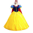 Cosplay Fancy Dress Princess Snow White Costume Dress for Kids Girl w/ Petticoat