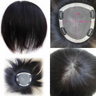 "6~20inch Base 5.9''x6.7"" Remy Human  Hair Topper Haireason toupee For Women"