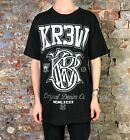 Krew Champ Regular Printed Short Sleeve T-Shirt New in Black - Size: L