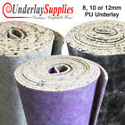 8, 10 & 12mm Thick PU Carpet Underlay Rolls UK Manufactured Quality Feel Luxury