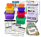 21 Day Diet Portion Control Container 7 Kit Fix Body Weight Loss Guide Food Plan
