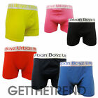 3,12 Pack Mens Boxers Designer Plain Color Jersey Trunks Shorts Multipack New