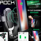 Qi Wireless Fast Charger Gravity Car Mount Air Vent Holder F iPhone X Samsung S8