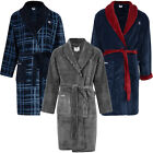 Mens Lambretta Super Soft Collared Bath Robe Dressing Gown Size
