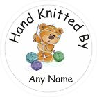 40 Hand Knitted By Personalised Stickers Labels Shop, craft fair, Market stall
