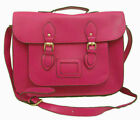 BRAND NEW RETRO PINK FAUX LEATHER SCHOOL SATCHEL BAG WITH SHOULDER STRAP RRP £15