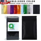 100 New Glossy Metallic Foil Mylar Zip Lock Bags in Different Colors and Sizes