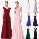 Ever-Pretty V-neck Long Evening Dress Formal Bridesmaid Midnight Prom Gown 08633
