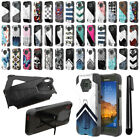 For Samsung Galaxy S7 Active G891 Hybrid Dual Layer Kickstand Case Cover + Pen