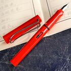 Solid Color Plastic Student Pen Word Fountain Pen Useful Gift Durable Nib 0.38mm