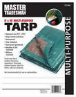 Kaps Tex KT-MT0810GB Polyethylene Tarp, Green/Brown, 8 x 10-Ft.