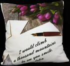 Personalised Cushion Printed Photo Gift Custom Made Print Love Message