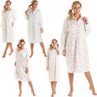 Womens Nightdress Ladies Floral Long Sleeve Nighties Lady Olga Nightshirt 10-36