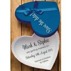 Personalised Save the date Cards wedding invites BLUE love heart design