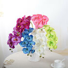 Artificial Butterfly Orchid Flowers Bouquet Phalaenopsis Wedding Decor US