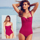 Red Body Illusion Spice Moderne Swimsuit Removable Straps ~ Size 8/10 ~ New