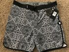 BRAND NEW HURLEY PHANTOM BLACK GRAY CASA MENS BOARD SHORTS 30 31 32 33 34 36 38