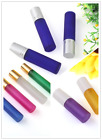 5pcs 5/10ml Glass Roll on Bottles - Metal Roller Ball Perfume Essential Oils