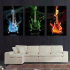 with framed 3 Piece Guitar Wall Picture Art Print Painting On Canvas For Living