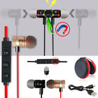 Red -XU56 Magnetic Bluetooth Handsfree Headset Earphone For Cell Phone Samsung