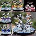 Newest Crystal Swan Wedding Decor Paperweight Figurine Gift Crafts Home Decor